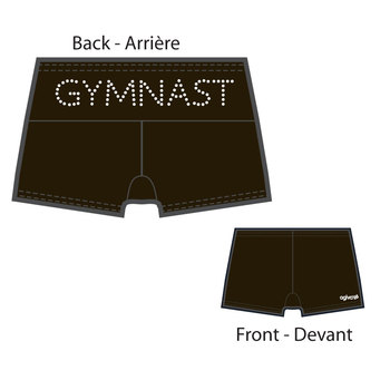 Short gymnastique en microfibre 3714