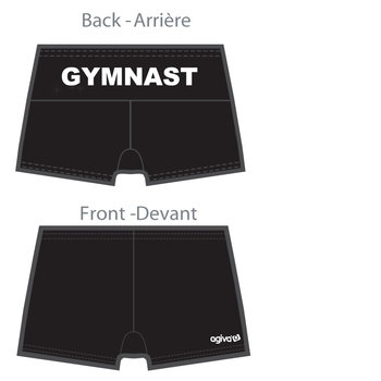 Short gymnastique en microfibre 3713