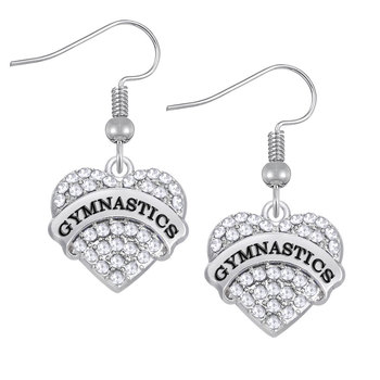 Boucle oreille coeur strass C 95290